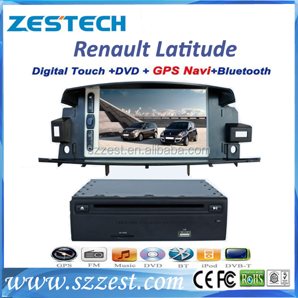 ZESTECH brand new OEM dvd car for Renault Latitude dvd car audio navigation system with gps bluetooth TV tuner