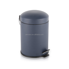 Fashionable stainless steel pedal bin white spot round pedal trash can