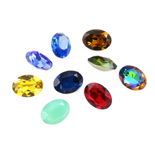Loose Glass Stone Oval Crystal Gemstone