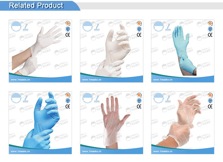 Waterproof disposable vinyl examimation colored medical gloves