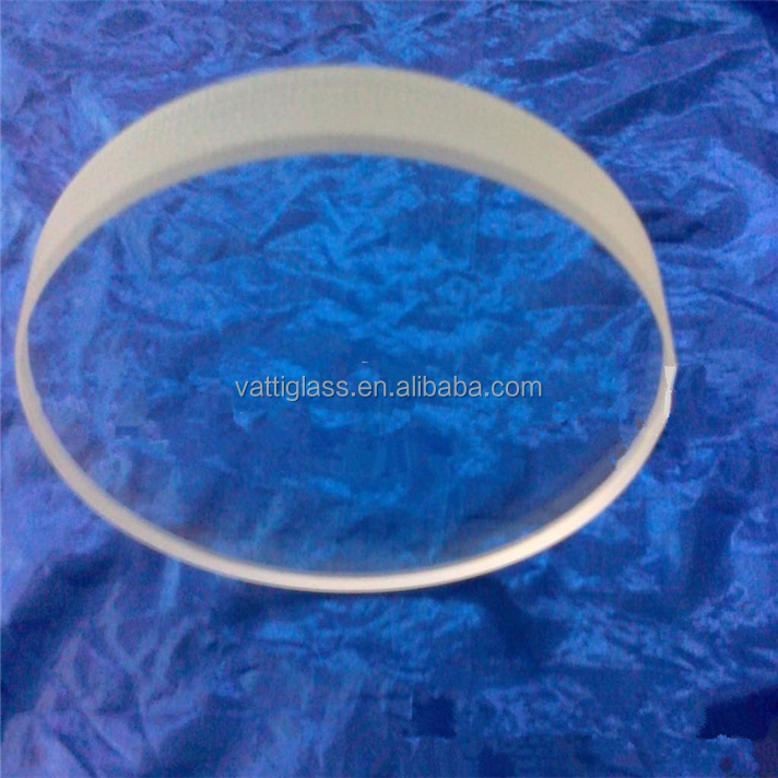 "Large size transparent quartz glass 2"" thick glass plate"