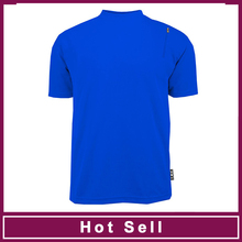 low MOQ blue color T-shirts for men