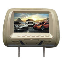 Replacement car headrest 7inch lcd monitor with USB optional(XM779)