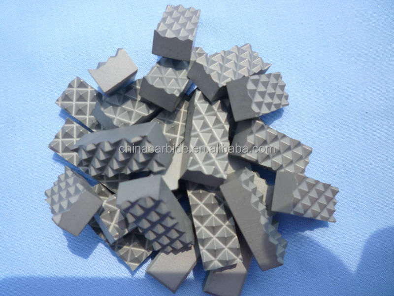 carbide replacement inserts for chuck jaws in diamond drilling