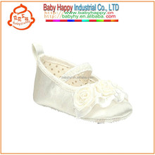 Ivory Silk Shoes With Satin Flower