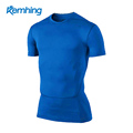 wholesale gym wear fitness men sports gym wear quick dry compression wear fitness t shirt