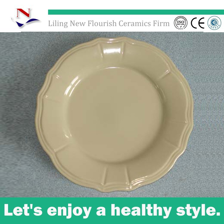 2015 wholesale high quality cheap porcelain plate