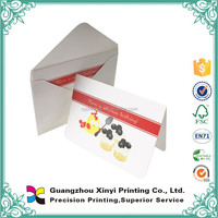 One side color printing folding thanks card printing