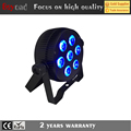 7*6in1 rgbwa + uv mini decorative flat led light lights with ir remote control