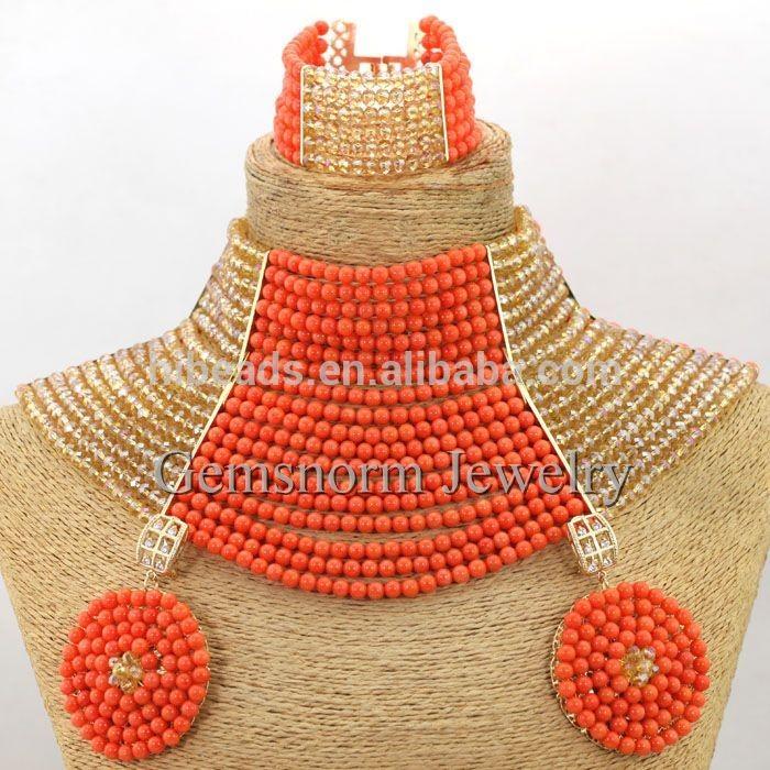 Fashion unique design crystal beads jewelry nigerian crystal ...