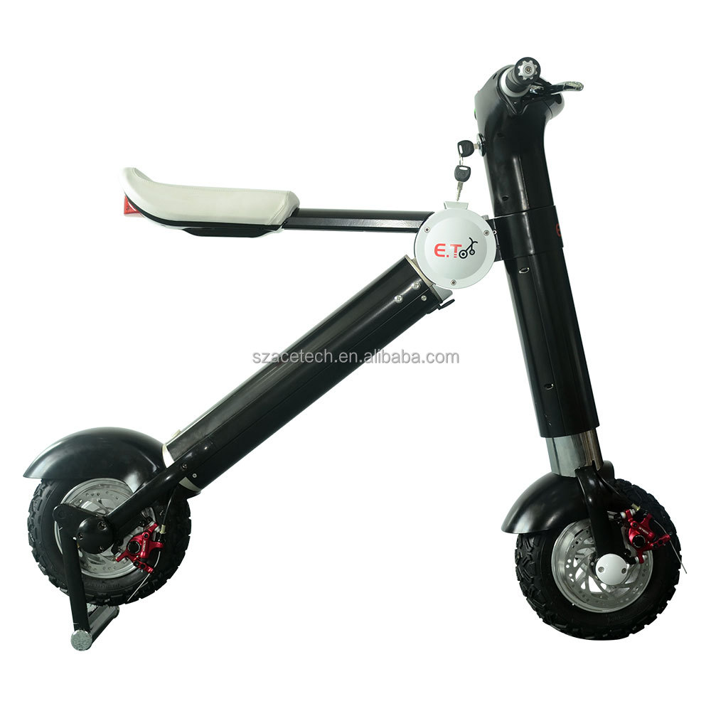Whole sale of electric mini motorbike foldable 350w 500w with aluminum frame