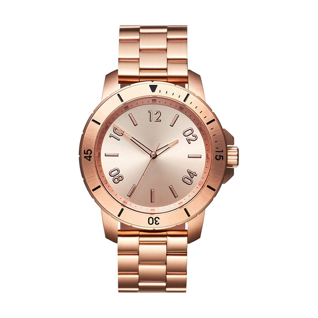 Men watch rose gold color Japan quartz movt watches stainless steel back luxury for sale
