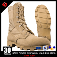 Cheap fashion rubber outsole Military Jungle boots Combat Military Tactical Boots Khaki Military Genuine Leather ranger boots