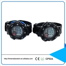 Custom Rubber Band Multifunction Digital Waterproof Mens Watch with Alarm and EL Light