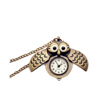 New Pocket watch Owl shape Unisex Vintage anime pocket watch