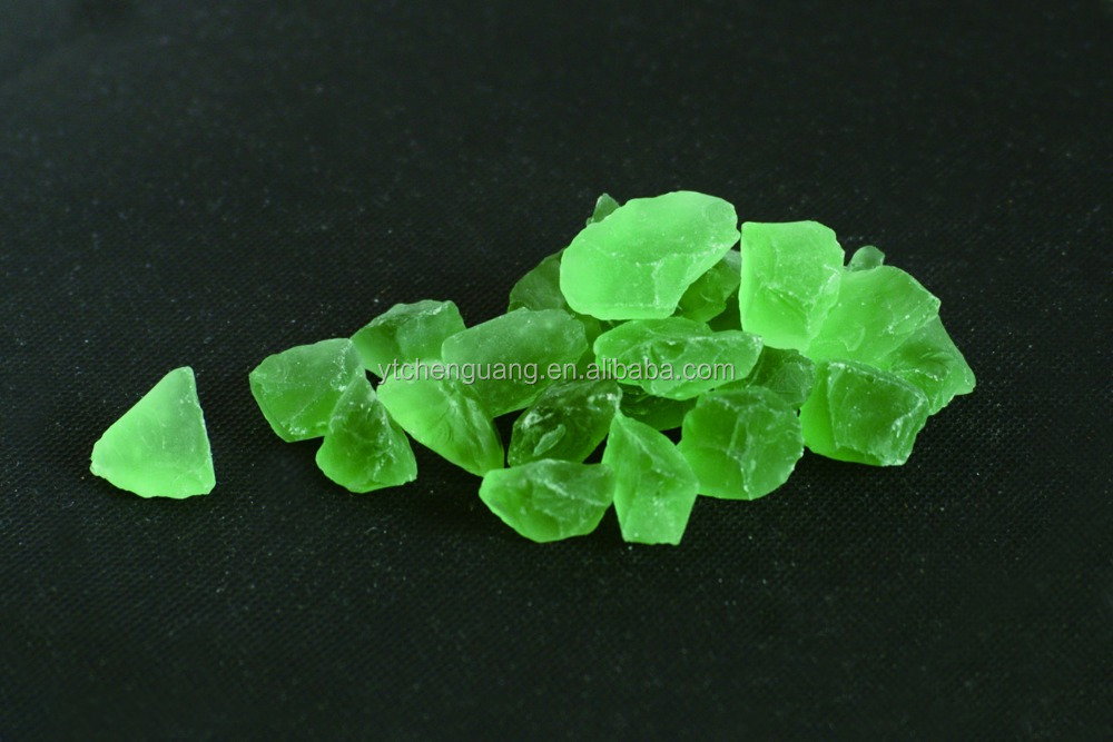 Crushed Green Colored Glass Chips for Decoration
