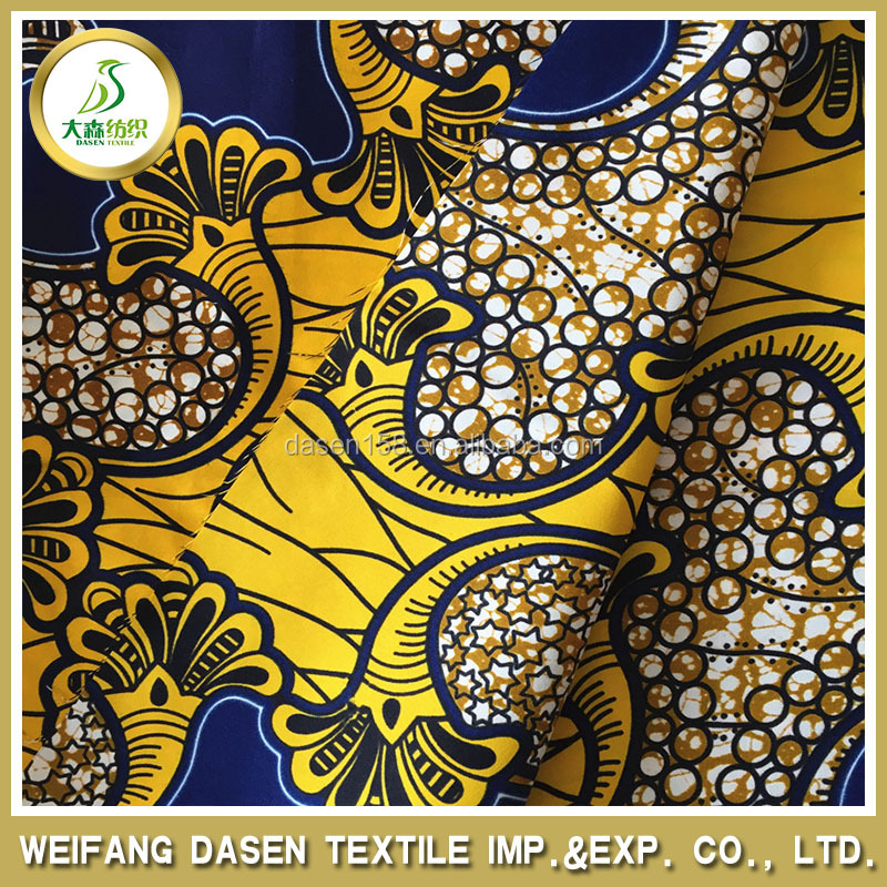 2015 new pattern wholesale african wax prints fabric