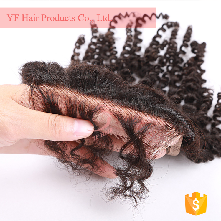 2017 new premium wholesale cheap raw back closure weave