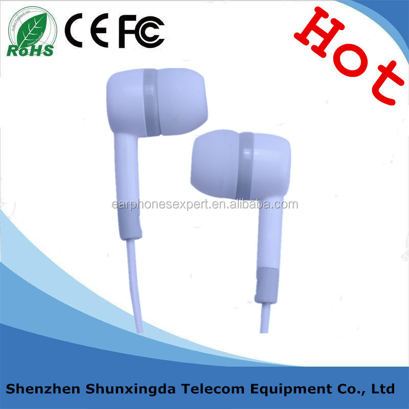 High Quality Deep Bass Plastic In-ear Headphone with Microphone