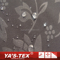 Wholesale Water Repellent Flower Printed Polyester Microfiber Sports Wear Fabric With Soft Fleece
