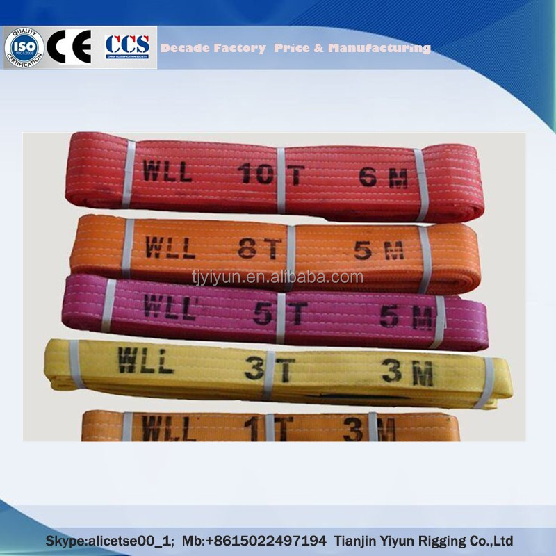 China High Quality Lifting Sling Polyester Webbing Belt for Lifting