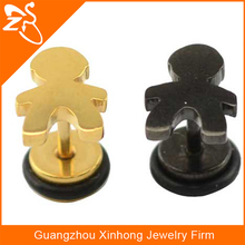 Beautiful Free Samples Stainless Steel Earrings with Charming cartoon people
