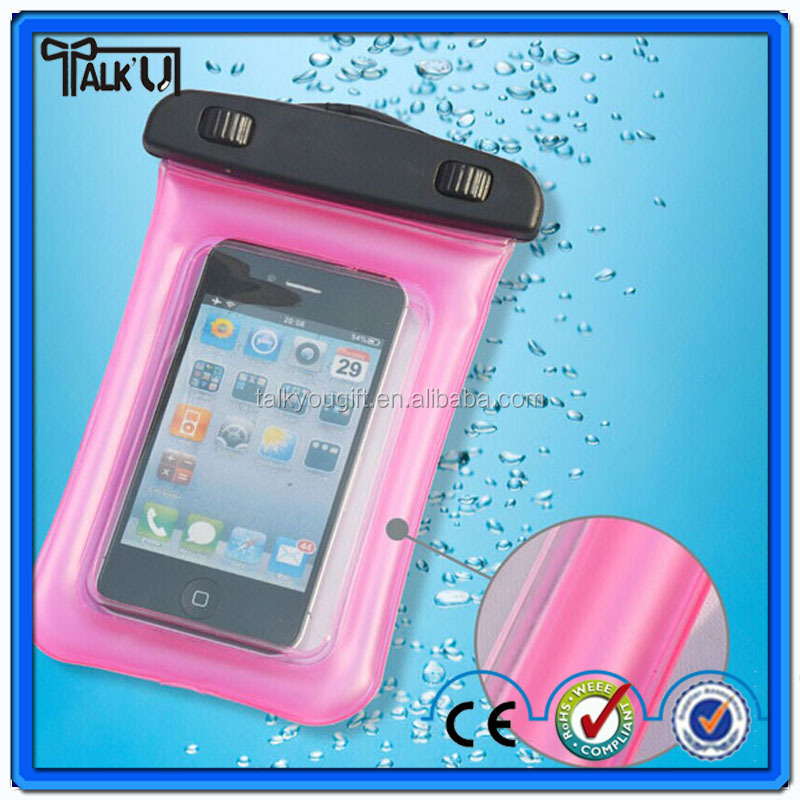 Hot sell mobile phone waterproof bag, mobile phone pvc waterproof bag, waterproof cell phone bag