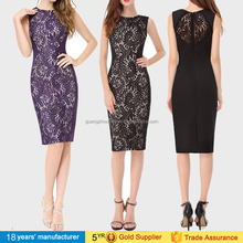2016 New White Elegant Full Lace Bandage Club Dresses Casual Bodycon party Pencil cocktail Dresses cheap OEM