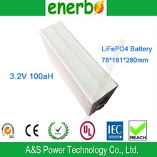 High Power LiFePO4 12V 100Ah Deep Cycle Lithium Ion Battery Pack 3.2V Lithium-Ion Battery Single Cell Prismatic Shape