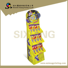 Design and printing point of Purchase Folding Retail Cardboard Display Unit for Cookies