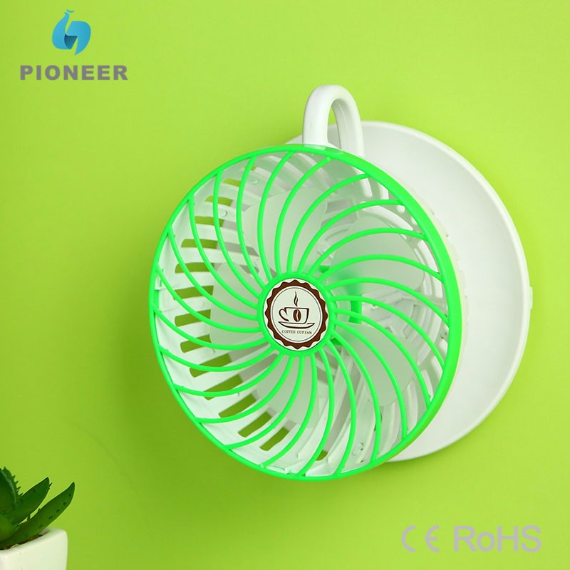 Small wall mounted electric fan DC 5V low voltage portable mini fan