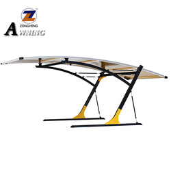 Best selling items remote control retractable awning transparent polycarbonate awning transparent awning for medical use