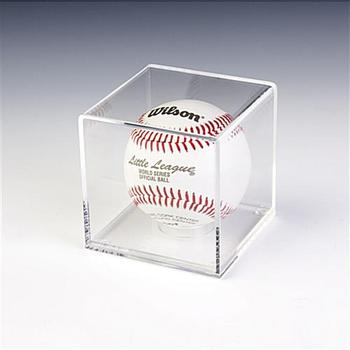 Acrylic  clear Box for Baseball Case Display Stand