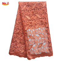 Mr.Z Embroidered African Latest French Lace 2016 French Lace Fabric Net For Wedding N1043
