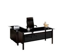 PT-D080 new 2016 desk modern design office table cheap glass top