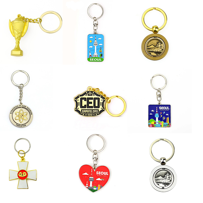Promotional Gifts Cheap Wholesale Car Accessories Leather Rope Keyring Couple Keychain