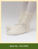 SO-054N hot custom wholesale cheap winter cotton knitted socks