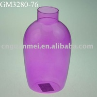 Wholesale purple glass flower vase