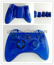 Glossy Blue Wireless Controller Shell for Xbox360 Slim with transforming D-pad