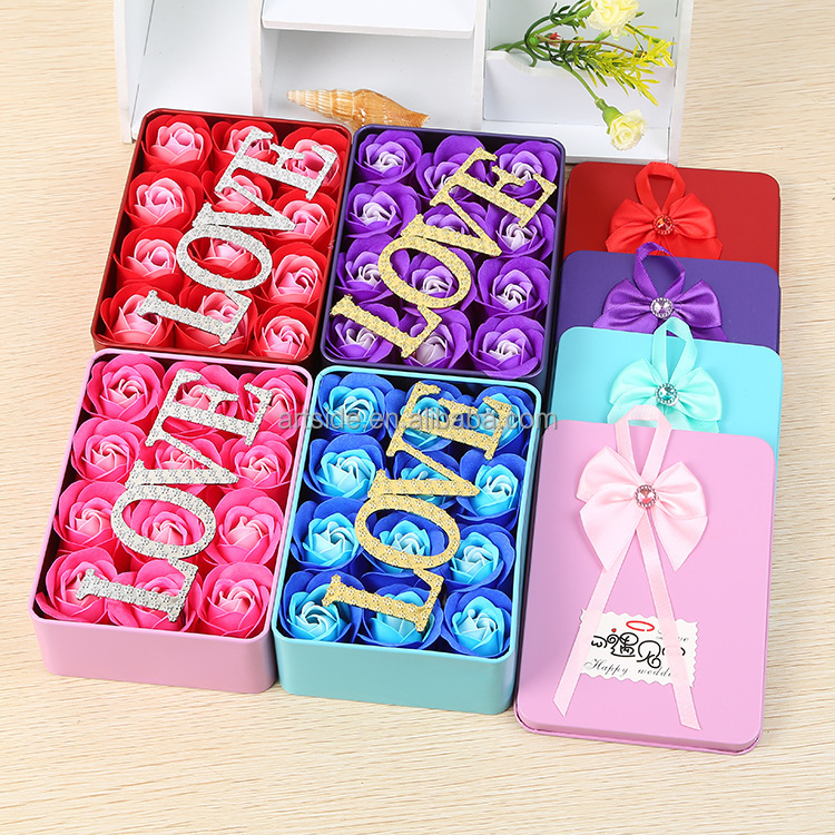 Valentine's Day Gifts Creative 12PCS Set Soap Roses LOVE Designed Bouquet Birthday Gift Box