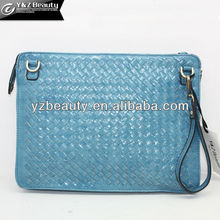 Fashion Coin Change Wallet Woven Mini Leather Case for iPad