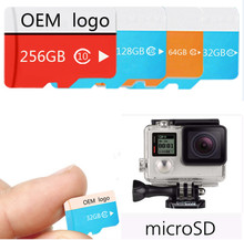 Customized Gifts 32GB 64GB 128GB 256GB Sport Camera Class10 U1 U3 Micro Memory SD Card