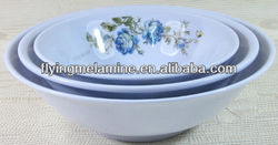 Melamine footed bowl
