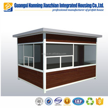 Qualified light steel prefab sentry box/guard house/shop/kiosk/booth/ticket office