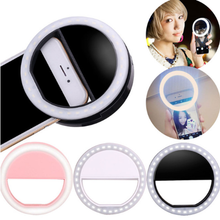 USB Rechargeable Clip-on Battery Portable Mini Mobile Phone Selfie LED Fill Adjustable Flash Light