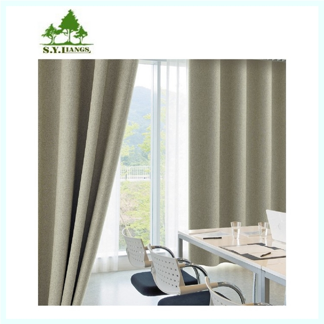 Taiwan supplier S.Y.LIANGS 100% Polyester Luxury Sheer French Door Custom Printed Curtains
