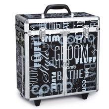 Professional Rolling Aluminum printing Hairdresser tool case, hairdressing tool kit box, hairdressing storage case