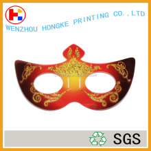 Hot selling GlitterGlitter PP gold shimmering halloween party mask