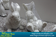 white rabbit stone garden decoration