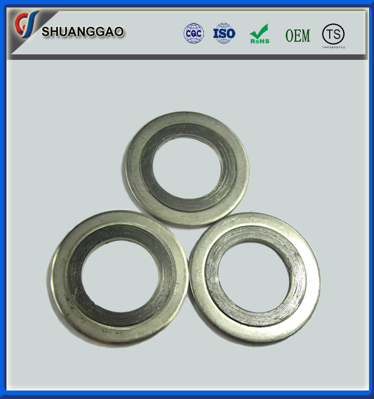 Asme b16.20 stainless steel spiral wound gasket with outer ring
